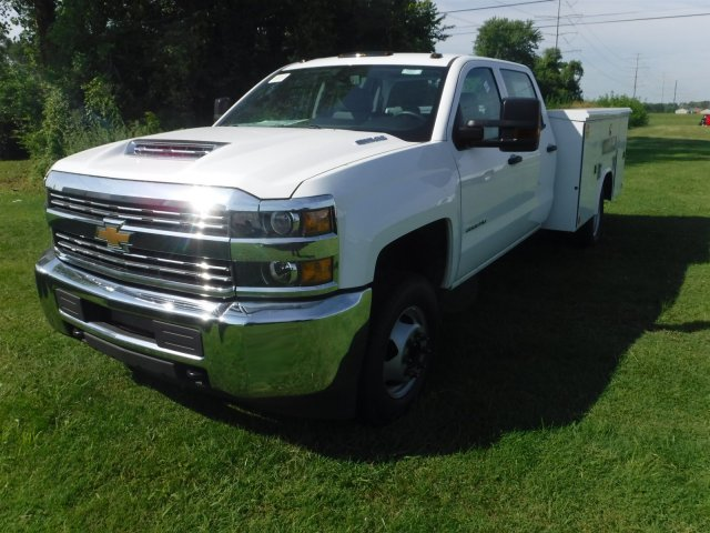 2018 Silverado 3500 Crew Cab DRW 4x2,  Reading Classic II Steel Service Body #18735 - photo 4