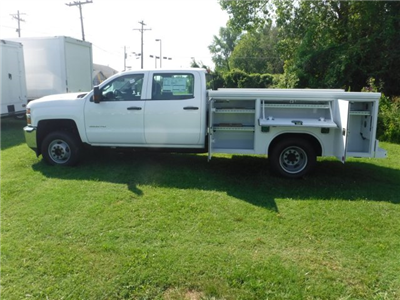 2018 Silverado 3500 Crew Cab DRW 4x2,  Reading Classic II Steel Service Body #18735 - photo 12