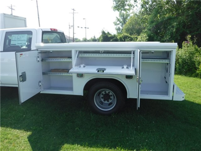 2018 Silverado 3500 Crew Cab DRW 4x2,  Reading Classic II Steel Service Body #18735 - photo 13
