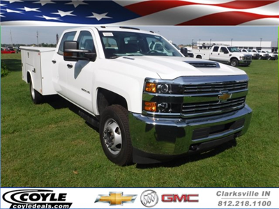 2018 Silverado 3500 Crew Cab DRW 4x2,  Reading Classic II Steel Service Body #18735 - photo 1
