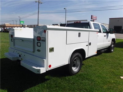 2018 Silverado 3500 Crew Cab DRW 4x2,  Reading Classic II Steel Service Body #18735 - photo 2