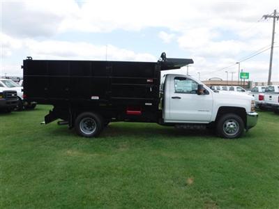 2018 Silverado 3500 Regular Cab DRW 4x4,  Reading Landscaper SL Landscape Dump #18736 - photo 19