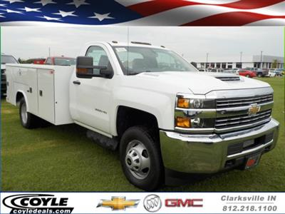 2018 Silverado 3500 Regular Cab DRW 4x2,  Reading Classic II Steel Service Body #18762 - photo 1