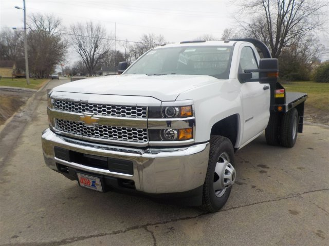 2019 Silverado 3500 Regular Cab DRW 4x4,  Reading Platform Body #19239 - photo 6