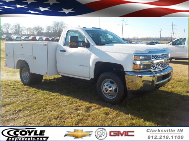 2019 Silverado 3500 Regular Cab DRW 4x4,  Reading Classic II Steel Service Body #19270 - photo 1