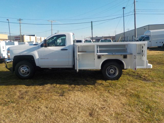 2019 Silverado 3500 Regular Cab DRW 4x4,  Reading Service Body #19270 - photo 14