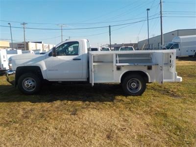 2019 Silverado 3500 Regular Cab DRW 4x4,  Reading Classic II Steel Service Body #19270 - photo 14