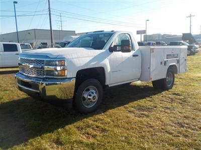 2019 Silverado 3500 Regular Cab DRW 4x4,  Reading Classic II Steel Service Body #19270 - photo 6