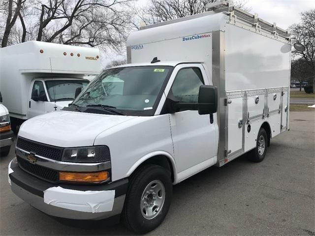 2018 Express 3500 4x2,  Dejana Truck & Utility Equipment DuraCube Max Service Utility Van #T182165 - photo 1