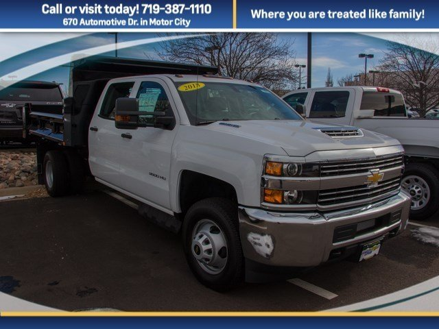 2018 Silverado 3500 Crew Cab DRW 4x4, Rugby Dump Body #X5321 - photo 3
