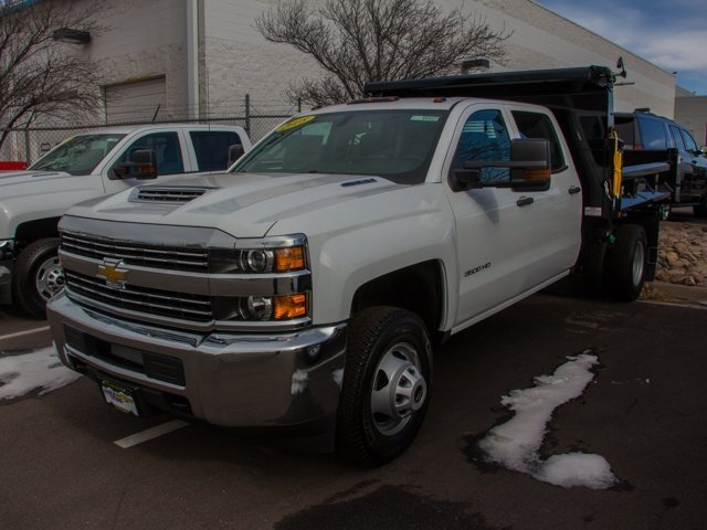 2018 Silverado 3500 Crew Cab DRW 4x4, Rugby Dump Body #X5321 - photo 5