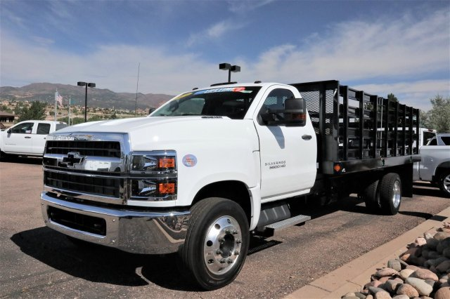 2019 Silverado 5500 Regular Cab DRW 4x2, Parkhurst Toughline Stake Bed #Y6804 - photo 4