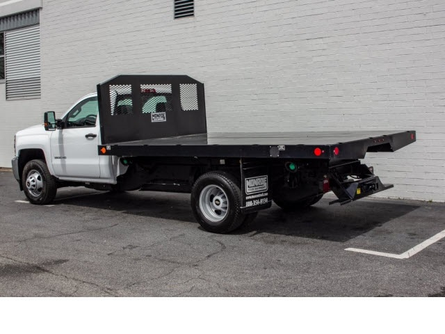 2018 Silverado 3500 Regular Cab DRW 4x2,  Monroe Platform Body #FK0555X - photo 2