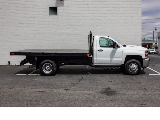 2018 Silverado 3500 Regular Cab DRW 4x2,  Monroe Work-A-Hauler II Platform Body #FK0555X - photo 9