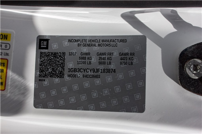 2018 Silverado 3500 Regular Cab DRW 4x2,  Freedom Workhorse Platform Body #FK3874 - photo 19