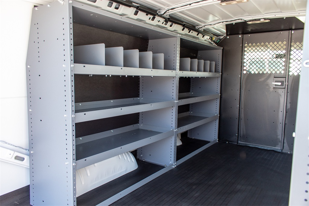 2019 Express 2500 4x2,  Masterack Steel General Service Upfitted Cargo Van #FK6329 - photo 9