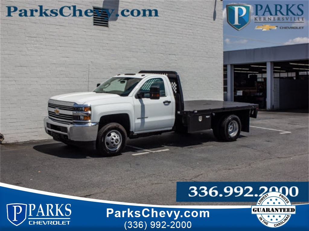 2017 Silverado 3500 Regular Cab DRW 4x2,  Knapheide Platform Body #FK7663X - photo 1
