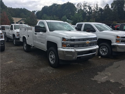 2017 Silverado 3500 Regular Cab 4x4, Knapheide Service Body #HZ250623 - photo 3