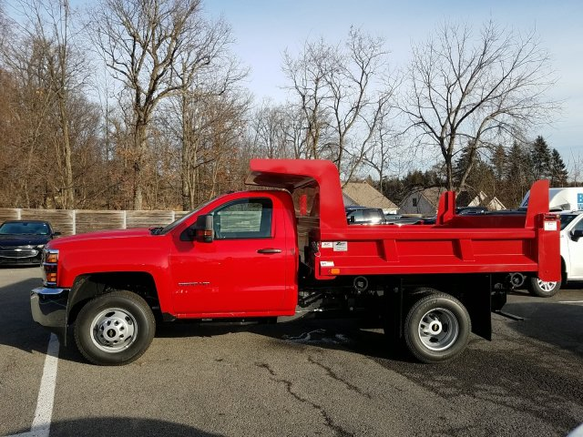 2019 Silverado 3500 Regular Cab DRW 4x4,  Rugby Dump Body #KF154033 - photo 5