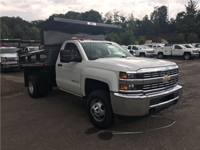 2017 Silverado 3500 Regular Cab DRW 4x4, Rugby Z-Spec Dump Body #V307192 - photo 3