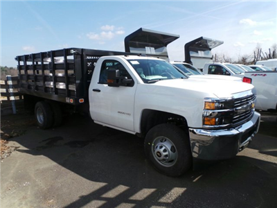 2017 Silverado 3500 Regular Cab DRW, Knapheide Value-Master X Stake Bed #VJ1183 - photo 3