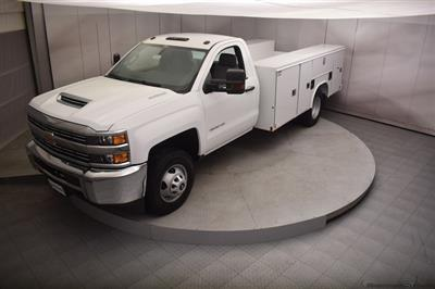 2018 Silverado 3500 Regular Cab DRW 4x4,  Reading SL Service Body #C180554 - photo 35