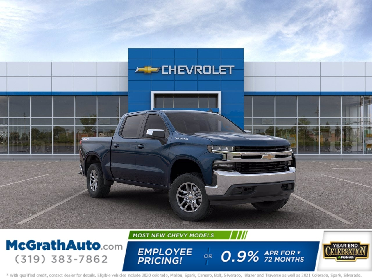 2020 Chevrolet Silverado 1500 Crew Cab 4x4, Pickup #C201425 - photo 1