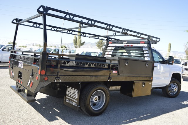 2017 Silverado 3500 Regular Cab DRW, Freedom Contractor Body #F138835 - photo 2
