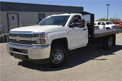 2017 Silverado 3500 Regular Cab, Monroe Platform Body #F182048 - photo 1