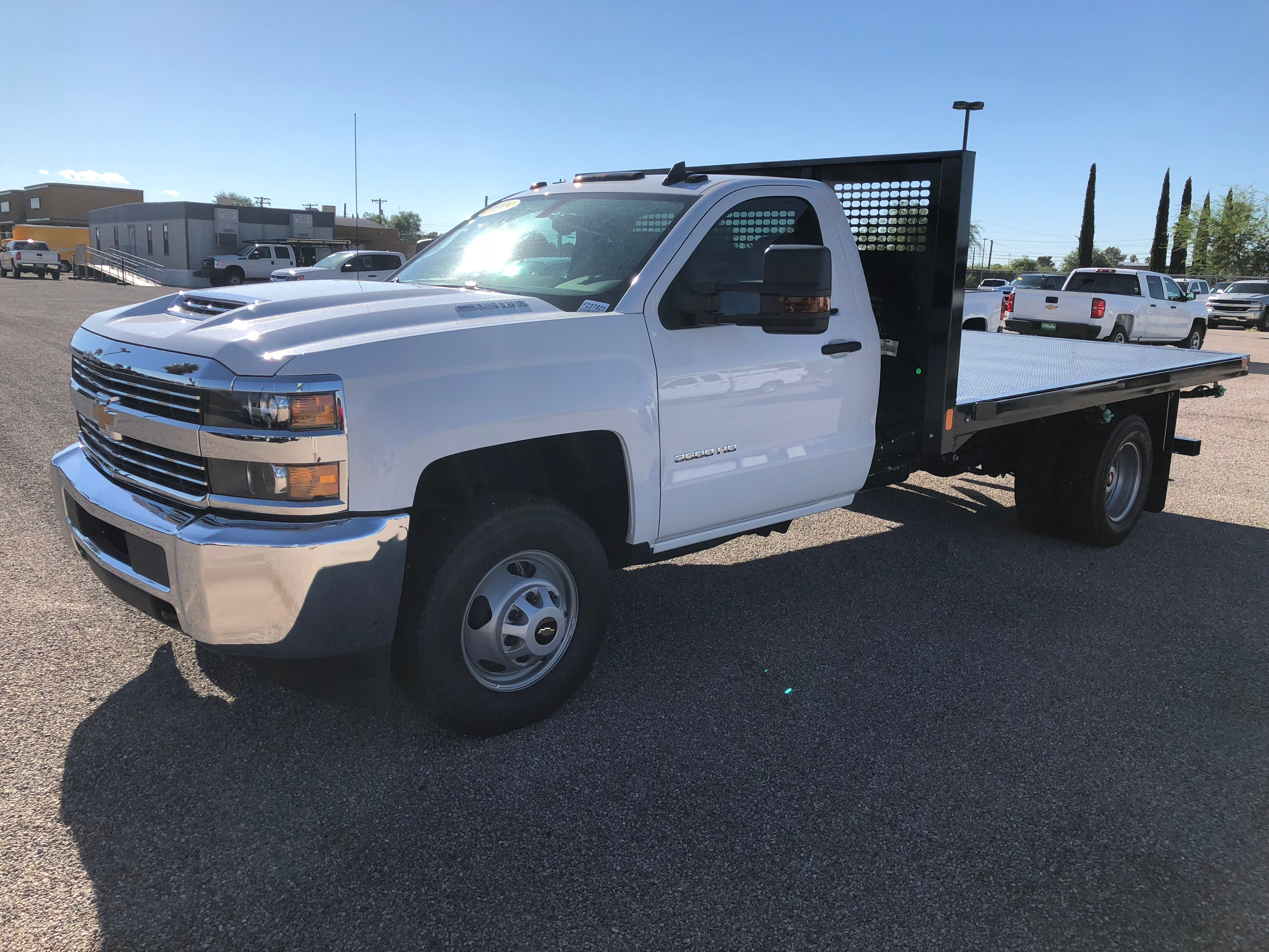 2018 Silverado 3500 Regular Cab DRW 4x2,  CM Truck Beds AL PL Model Platform Body #F237548 - photo 1
