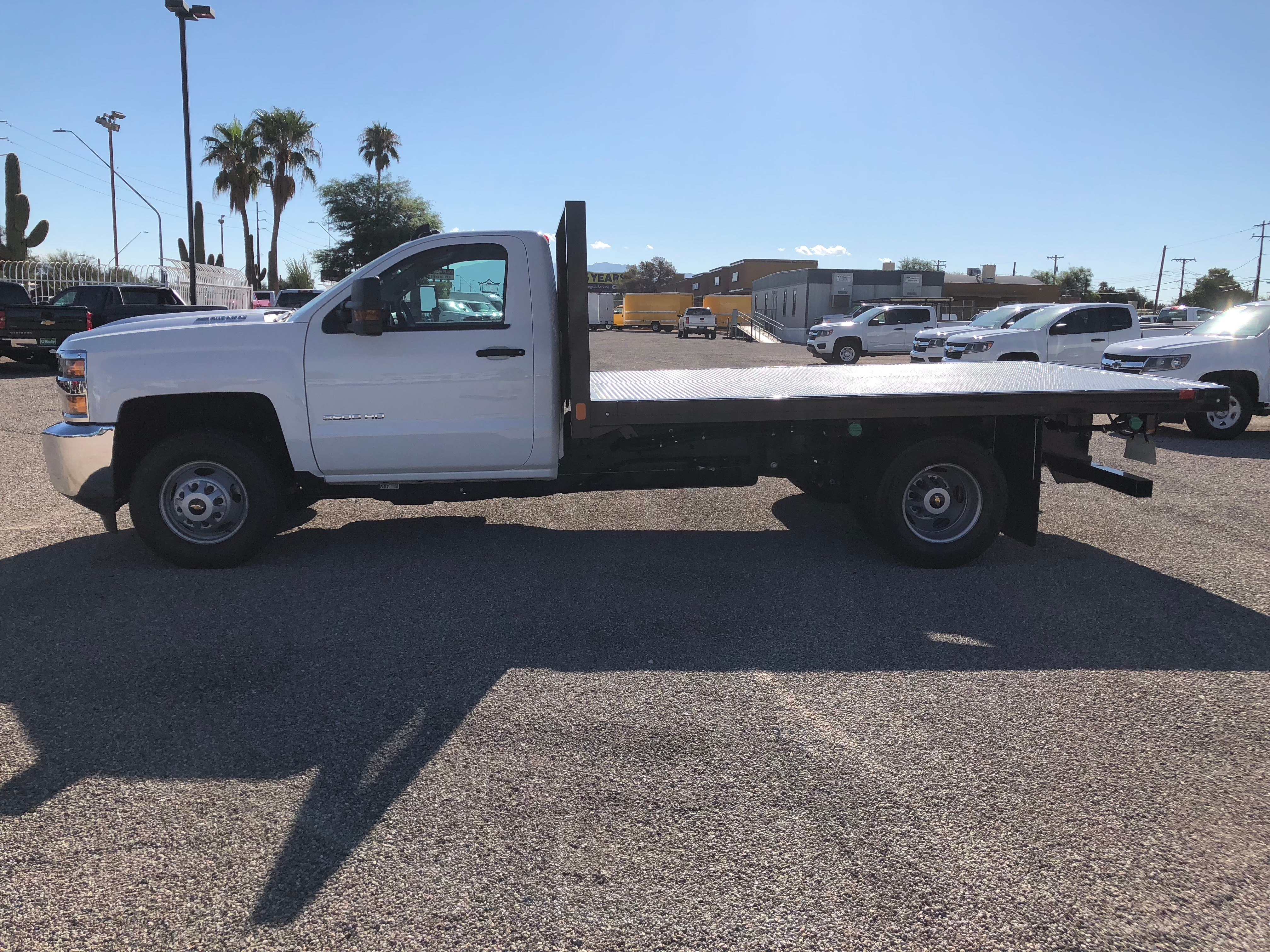 2018 Silverado 3500 Regular Cab DRW 4x2,  CM Truck Beds AL PL Model Platform Body #F237548 - photo 5