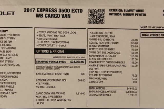 2017 Express 3500, Cargo Van #T15303 - photo 46