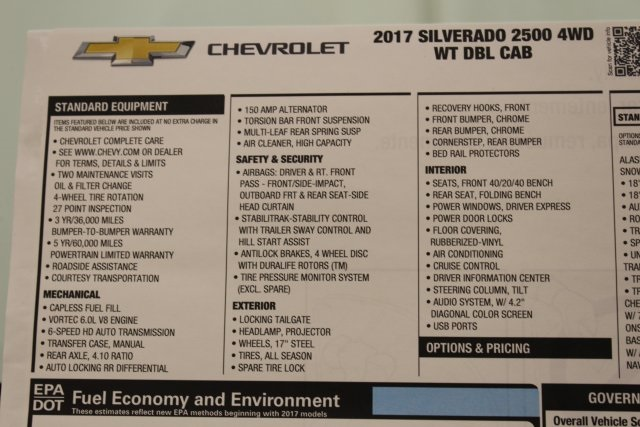 2017 Silverado 2500 Double Cab 4x4, Pickup #T15354 - photo 43