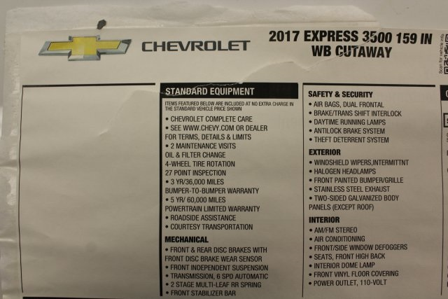 2017 Express 3500, Cutaway Van #T15649 - photo 45