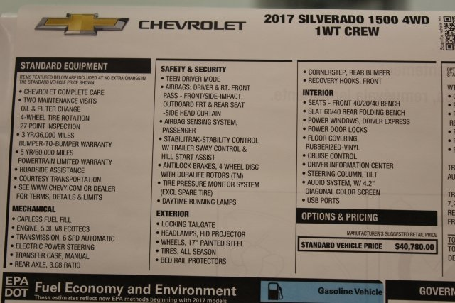 2017 Silverado 1500 Crew Cab 4x4,  Pickup #T16309 - photo 45
