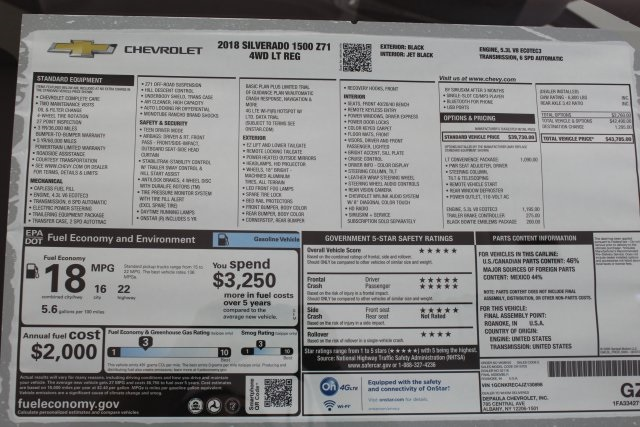 2018 Silverado 1500 Regular Cab 4x4, Pickup #T16551 - photo 5