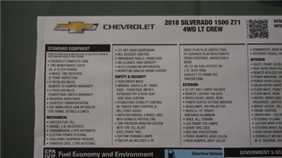 2018 Silverado 1500 Crew Cab 4x4 Pickup #T16667 - photo 45