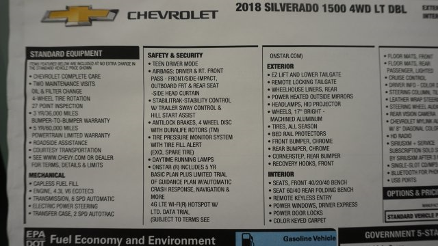 2018 Silverado 1500 Extended Cab 4x4 Pickup #T16996 - photo 48