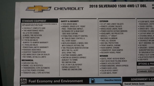 2018 Silverado 1500 Extended Cab 4x4 Pickup #T17100 - photo 46