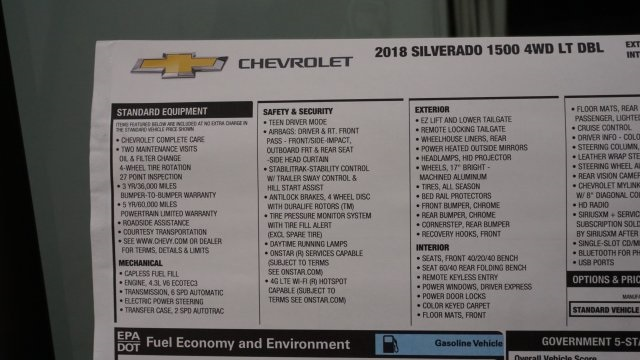 2018 Silverado 1500 Extended Cab 4x4 Pickup #T17101 - photo 45