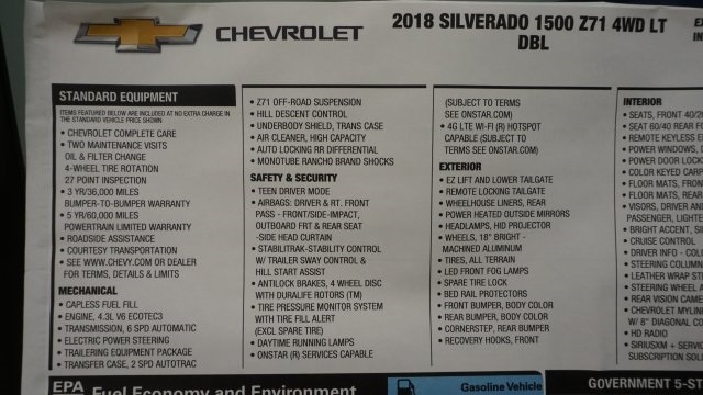 2018 Silverado 1500 Extended Cab 4x4 Pickup #T17106 - photo 44