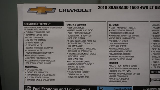 2018 Silverado 1500 Extended Cab 4x4 Pickup #T17168 - photo 46