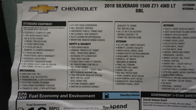 2018 Silverado 1500 Extended Cab 4x4 Pickup #T17245 - photo 41