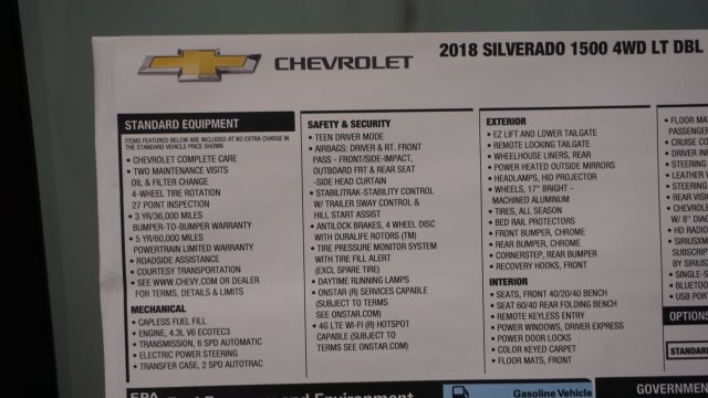 2018 Silverado 1500 Double Cab 4x4, Pickup #T17295 - photo 45