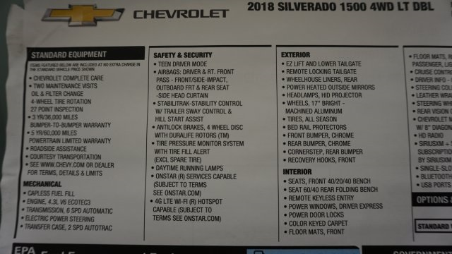 2018 Silverado 1500 Double Cab 4x4, Pickup #T17357 - photo 40
