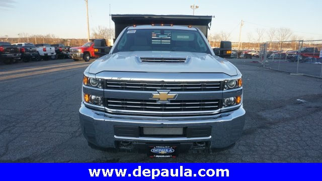 2018 Silverado 3500 Regular Cab DRW 4x4, Dump Body #T17362 - photo 8