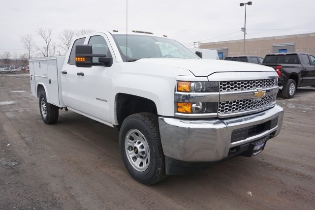 2019 Silverado 2500 Double Cab 4x4, Reading Classic II Steel Service Body #T22529 - photo 1
