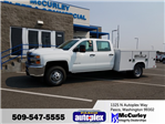 2017 Silverado 3500 Crew Cab 4x4, Reading Service Body #FCHH1135 - photo 1
