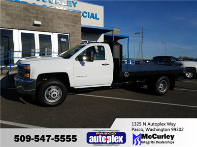 2017 Silverado 3500 Regular Cab DRW 4x4, Platform Body #FCHH1148 - photo 1