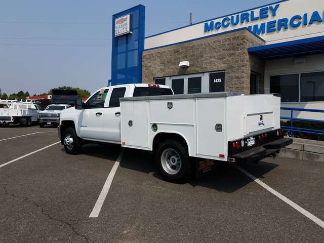 2017 Silverado 3500 Double Cab 4x4, Harbor Service Body #FCHH1177 - photo 2
